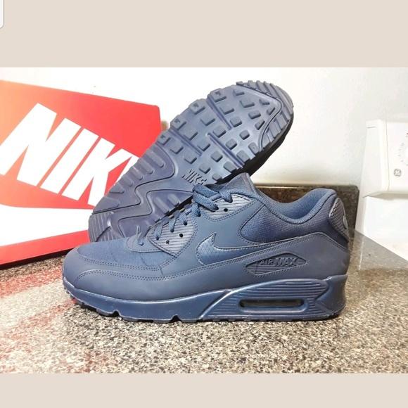 Nike Air Max 90 Essential Mens 537384 412 Midnight Navy